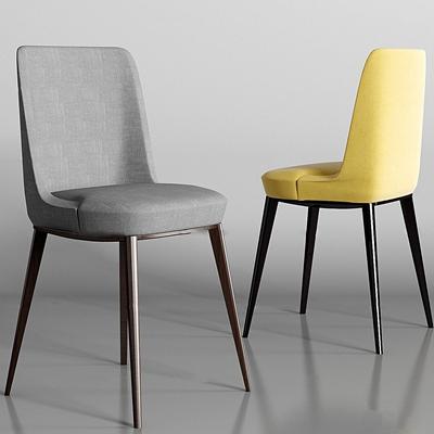 现代布艺单椅组合3D模型【ID:27165842】