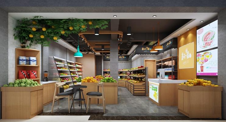 现代购物超市3d模型【ID:27167396】