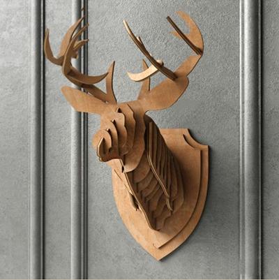 现代鹿头艺术品挂件3D模型【ID:27168323】