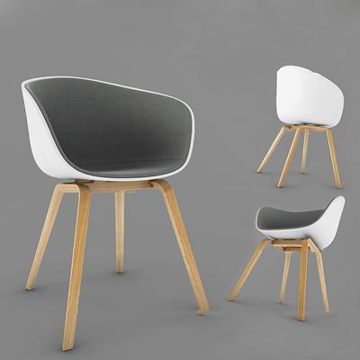 现代实木单椅3d模型【ID:27173749】
