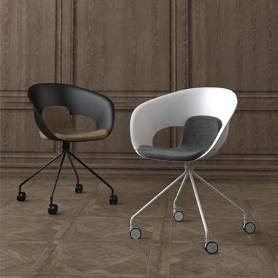 现代办公椅组合3d模型【ID:27175790】