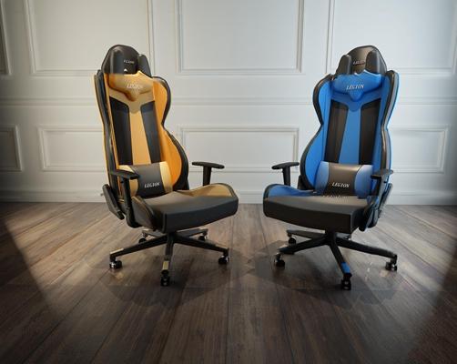 现代电竞椅组合3d模型【ID:27177790】