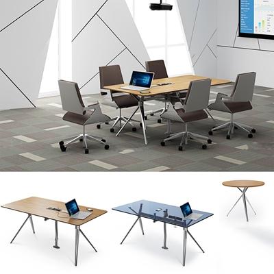 现代会议桌椅组合3D模型【ID:27178235】