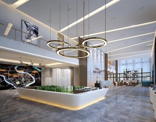 现代售楼大厅3d模型【ID:27186390】