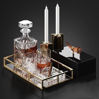 欧式酒瓶摆件组合3D模型【ID:27189154】