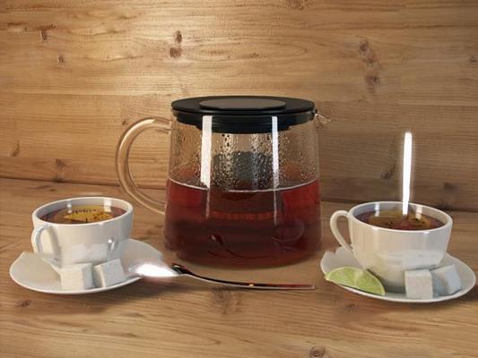 现代咖啡茶水3D模型【ID:27191655】