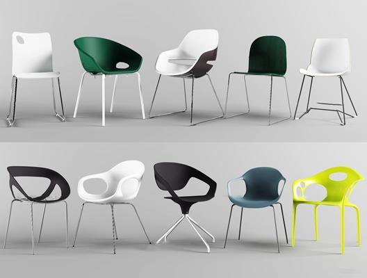 现代休闲椅组合3D模型【ID:27199248】