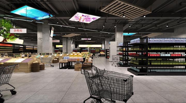 现代超市3D模型【ID:27200591】