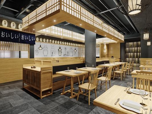 日式料理店3D模型【ID:27210957】