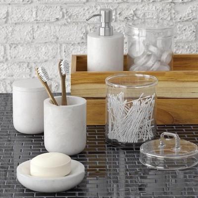 现代棉签香皂洗涤日用组合3D模型