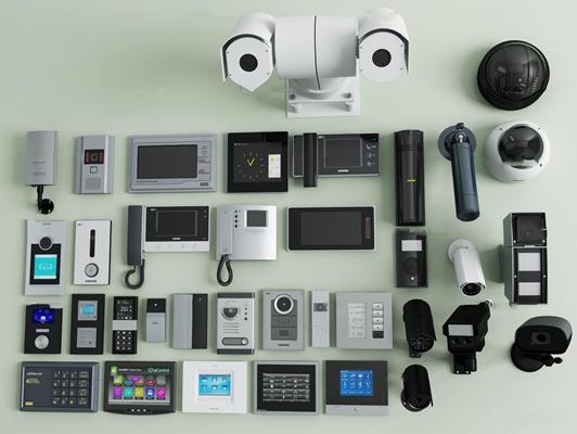 现代电话监控摄像头组合3D模型【ID:27213678】
