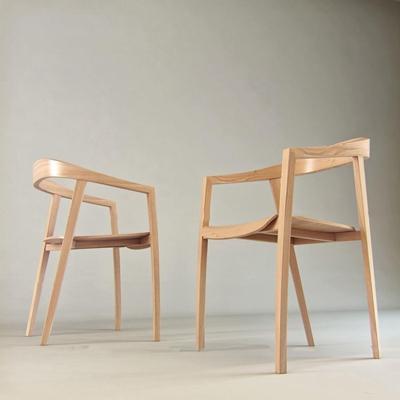 现代实木单椅3D模型【ID:27219143】