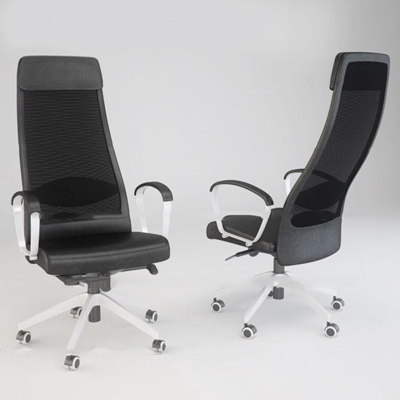 现代皮革办公椅3D模型【ID:27220196】