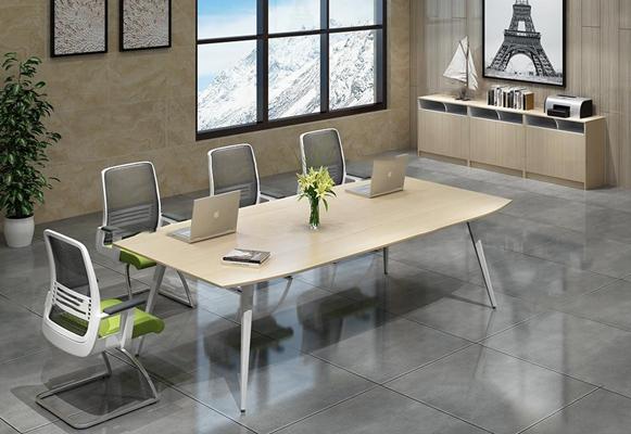 现代办公会议桌椅3D模型【ID:27221038】