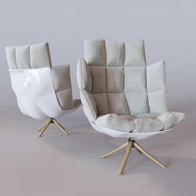 现代布艺休闲椅3D模型【ID:219681462】
