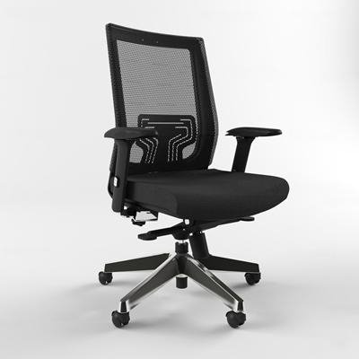 现代布艺网格办公椅3D模型【ID:27247894】