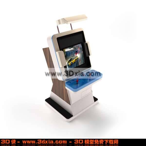 3D非常时尚的电子赛车机模型3D模型【ID:2762】