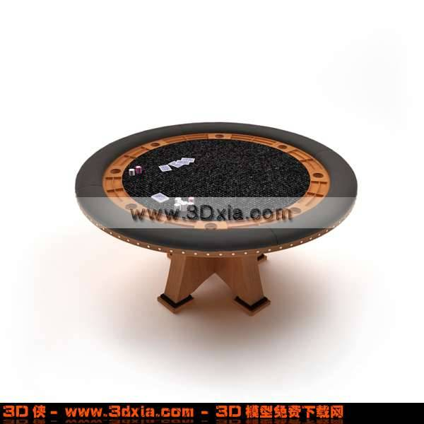 3D古雅的赌博用桌模型3D模型【ID:2764】