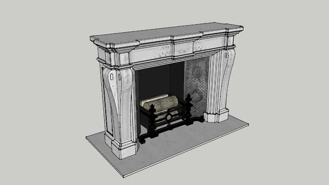 大理石壁炉SU模型【ID:939555528】