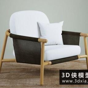 现代休闲椅国外3D模型【ID:729639849】