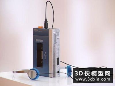 录音机国外3D模型【ID:229393055】