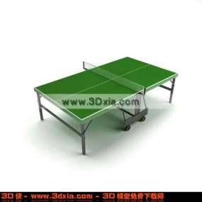 非常简单美观的3D乒乓球桌模型3D模型【ID:2780】