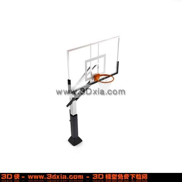 非常漂亮的3D篮球架模型下载3D模型【ID:2784】