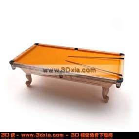 非常漂亮的橙色台球桌3D模型【ID:2785】
