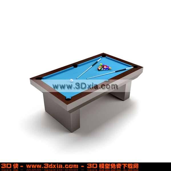 非常漂亮的台球桌3D模型【ID:2786】