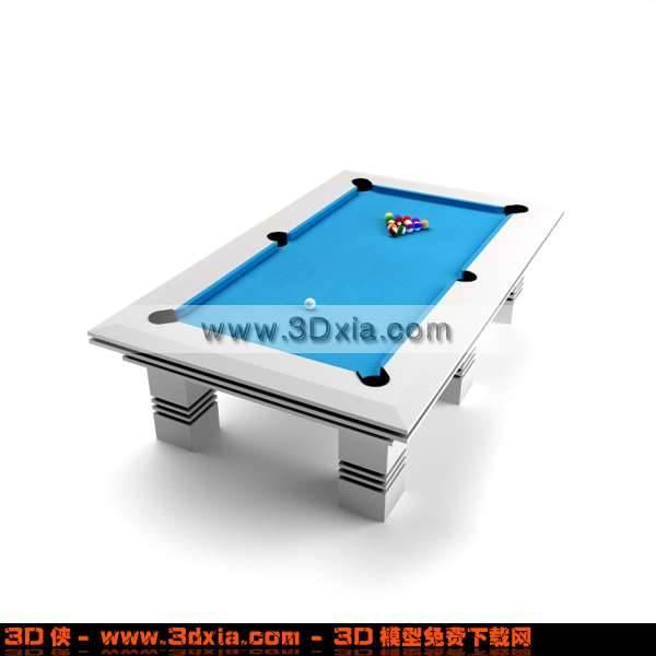 非常时尚的台球桌3D模型【ID:2789】