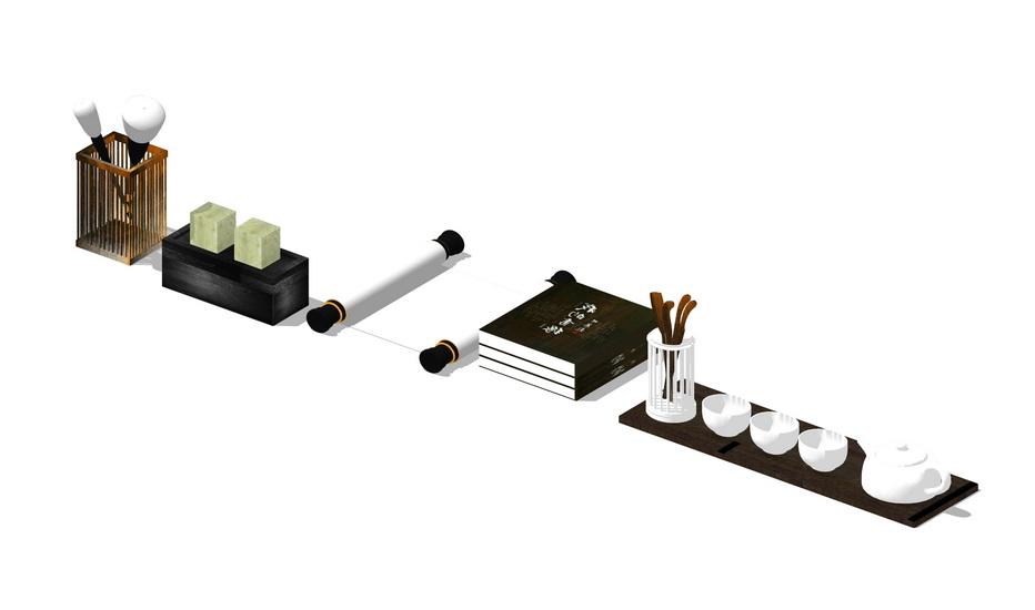 茶具SU模型【ID:936355448】