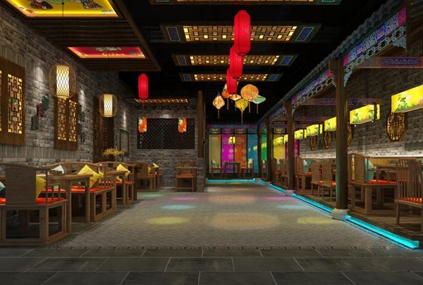 中式餐厅3D模型【ID:120609892】