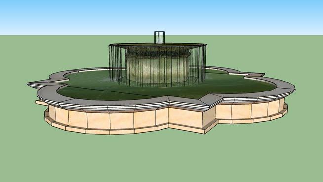 vatican。在庭院的喷泉观景台SU模型【ID:439557050】