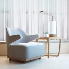 现代意大利Giorgetti休闲椅台灯3D模型【ID:228240413】