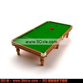 精美的木质台球桌3D模型【ID:2801】