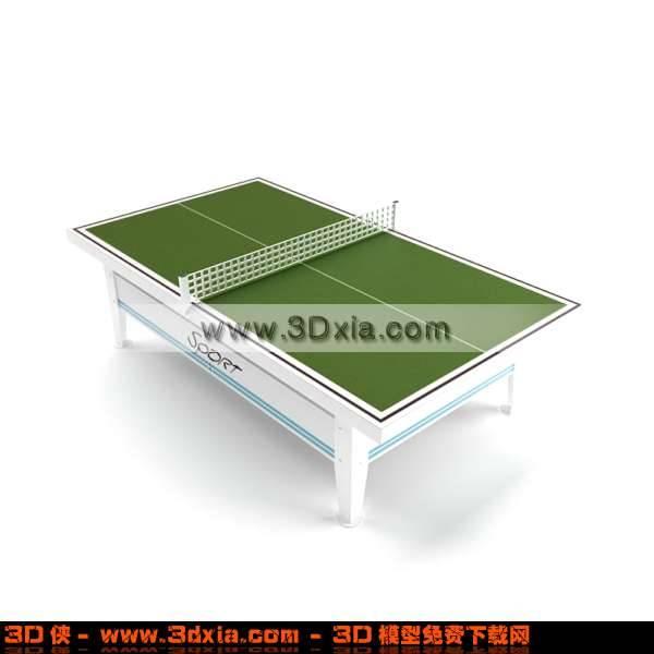 精致美观的乒乓球桌3D模型【ID:2803】