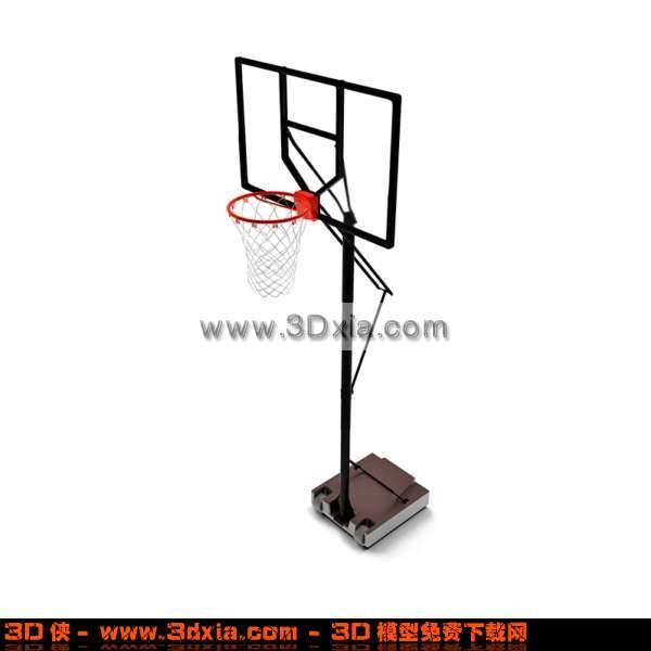 漂亮的3D篮球架模型3D模型【ID:2808】