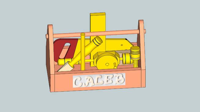 �和�木制玩�具工具箱SU模型【ID:639558741】