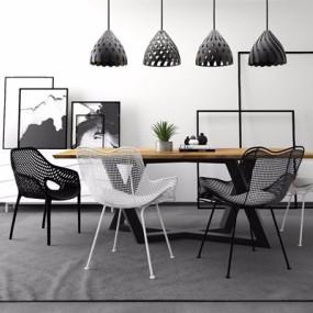 现代休闲办公桌椅组合3D模型【ID:327924600】