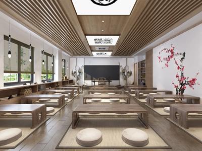 新中式教室3D模型【ID:932411682】