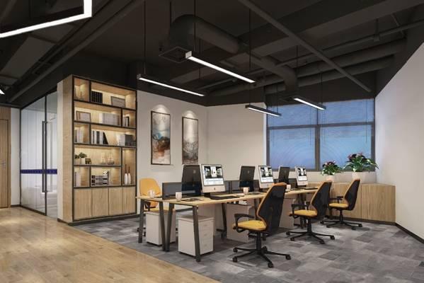 办公室3D模型【ID:720020508】