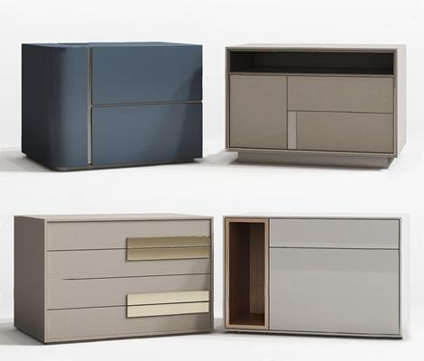 现代床头柜组合3D模型【ID:928332635】