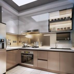 现代厨房3D模型【ID:528010003】