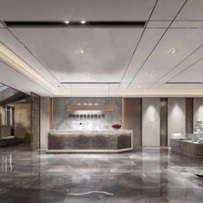 现代售楼处销售中心3D模型【ID:431432568】