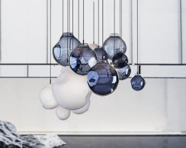 现代玻璃吊灯3D模型【ID:741356849】