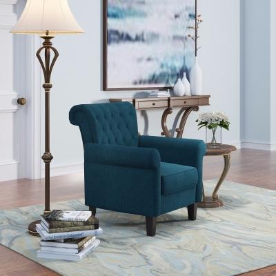 美式单人沙发茶几落地灯摆件3D模型【ID:927838609】