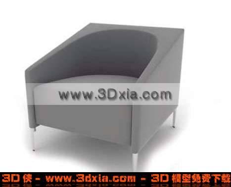 造型精美的3D单人沙发模型3D模型【ID:2911】