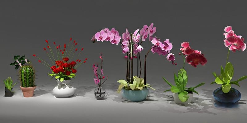 花瓶3D模型【ID:720617030】