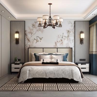 新中式卧室3D模型【ID:127762303】