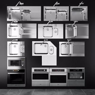 消毒柜洗菜盆組合3D模型【ID:828134332】